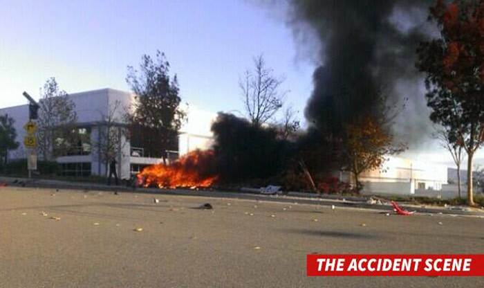 Paul Walker accident scene