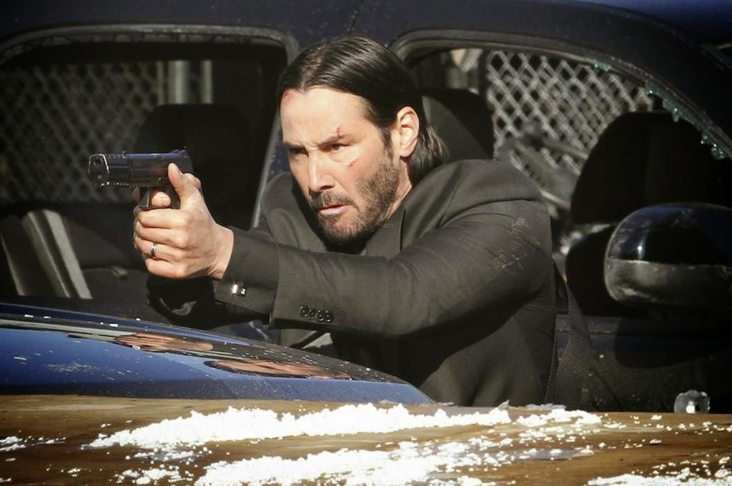 John-Wick gun shooting Keanu Reeves movie scene