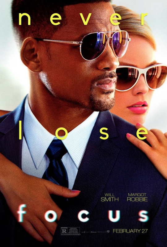 focus Will Smith Margot Robbie Official movie poster